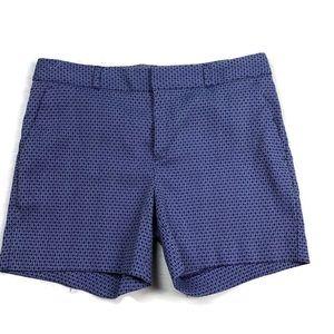 Banana Republic Shorts Tailored Diamond Blue